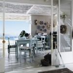 Cucine country Anice Talcato, vista mare spiaggia. Colore anice