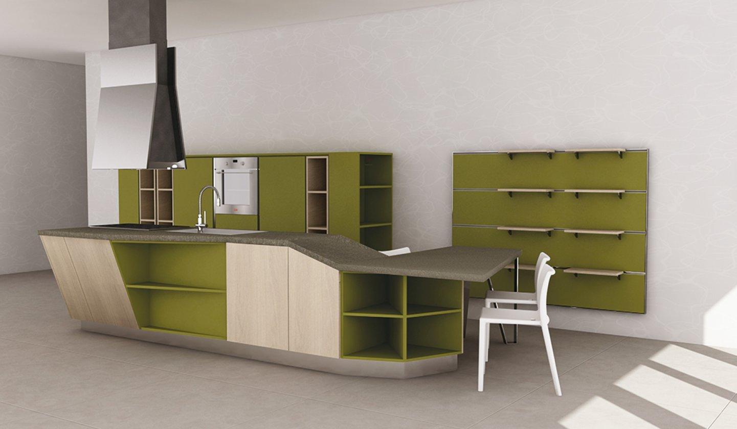 Cucine moderne e classiche arredamenti sartori trieste for Enorme isola cucina