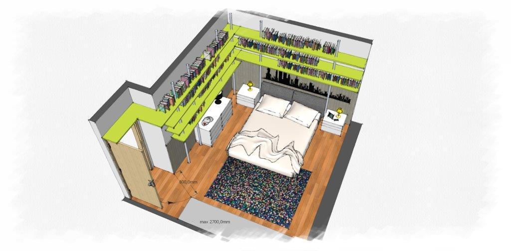 Immagini progetti - Progetto camera da letto ...