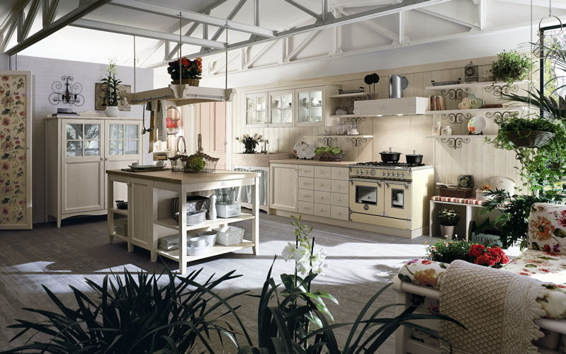 Cucine country for Casa shabby chic moderna
