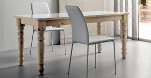 Hardwood tables classic style white