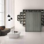 Soggiorni moderni Letto a muro convertibile in libreria