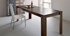 Extendable tables in dark hardwood