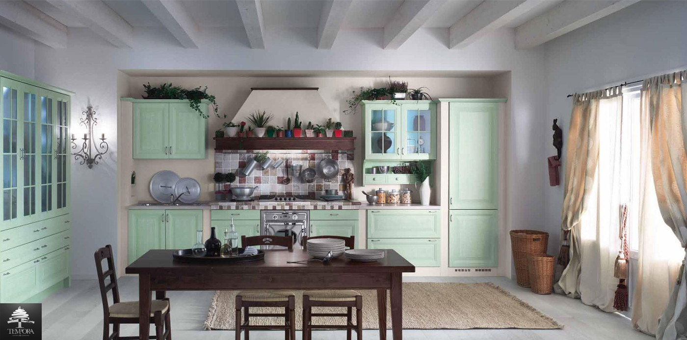 Cucine country - Cucina country verde ...
