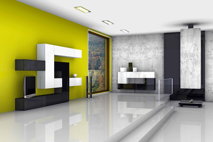 Pareti Soggiorno Giallo: Colore pareti soggiorno classico in giallo.