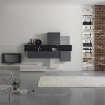 Soggiorni moderni Visione composizione metropolis libreria e tv