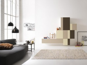Modern pixel brown composition for living rooms