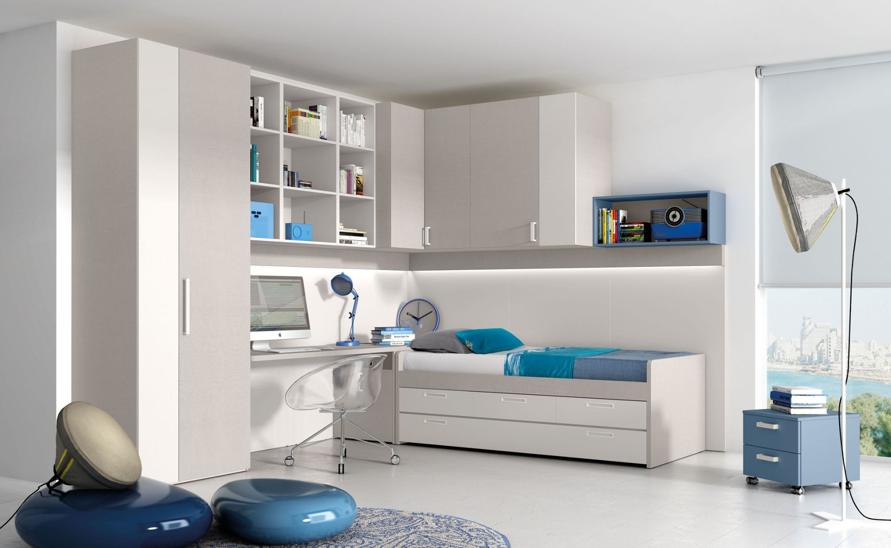 Cameretta blu per ragazzi - Ikea mobili camera bambini ...