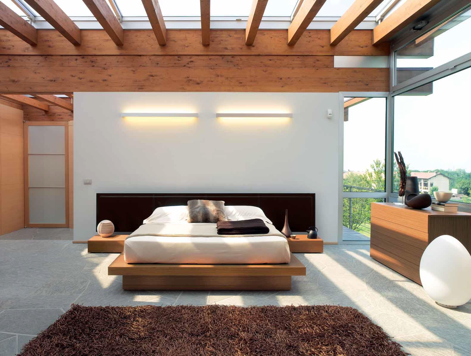 Camere da letto in legno massello idee per il design - Letto moderno legno ...
