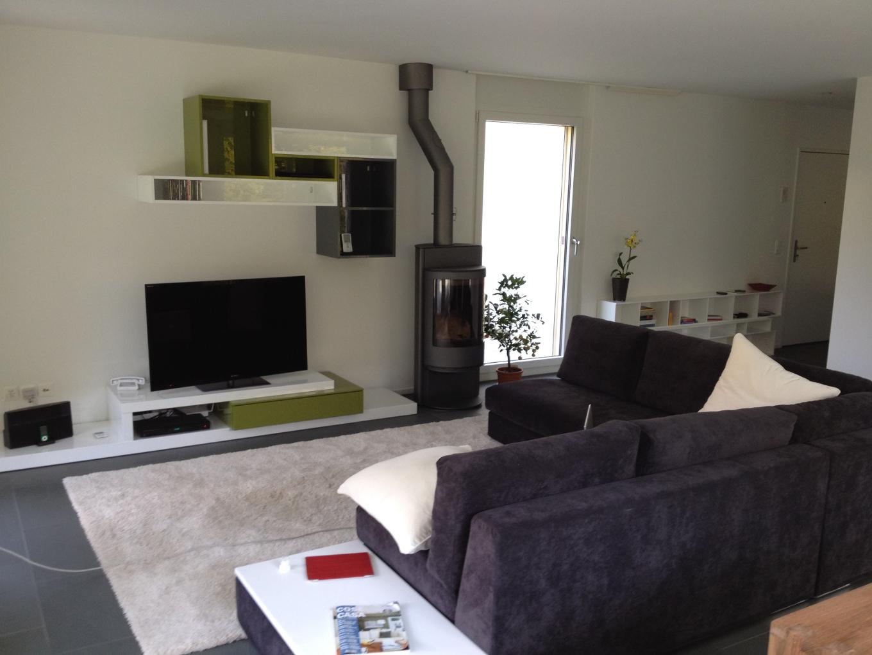 Foto di soggiorno di zurigo divano comodo tv stufa fuoco for Salotti particolari