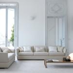 Divano componibile biba salotti, colore bianco su sfondo casa villa bianca