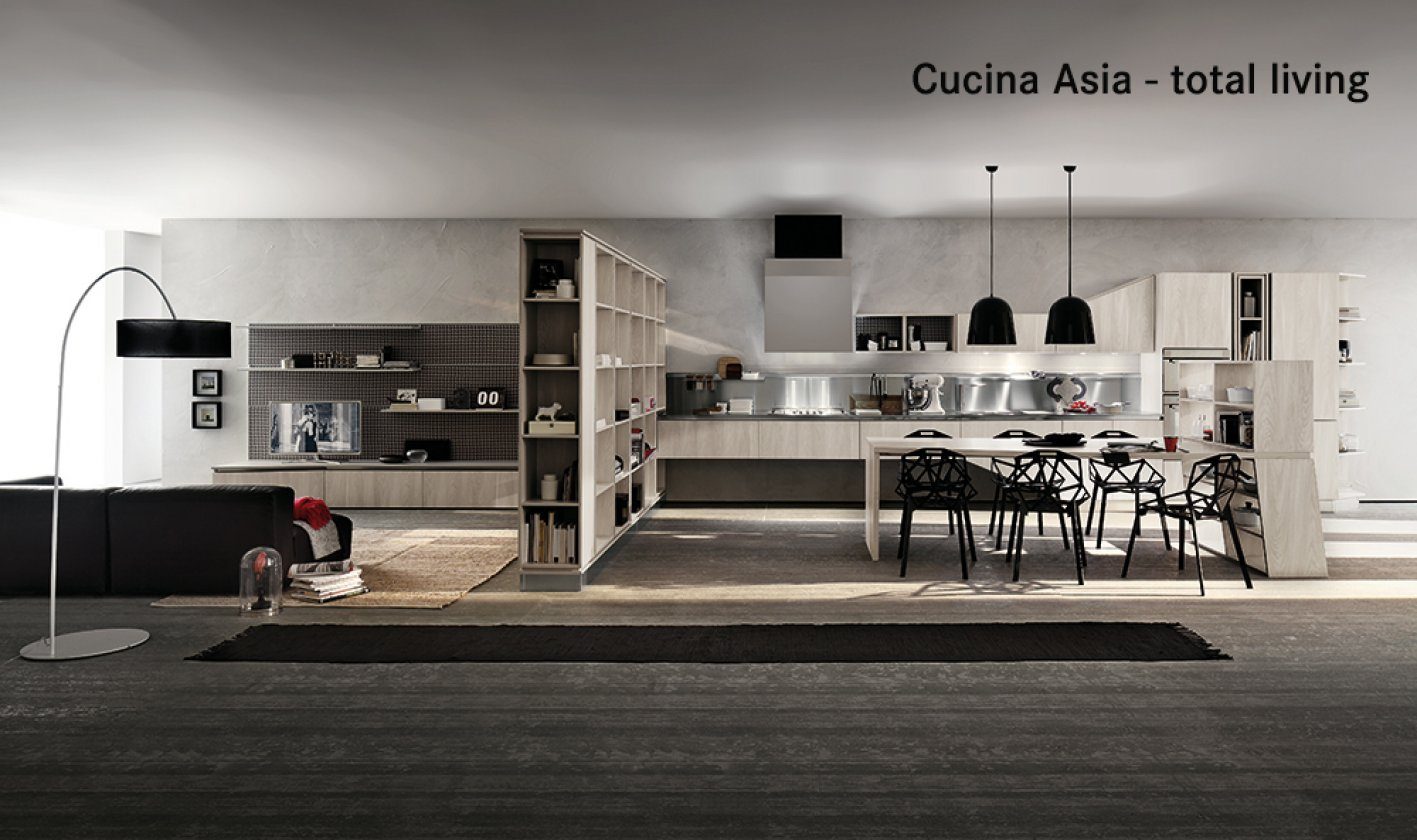 Panoramica Della Cucina Asia #6E5359 1417 840 Arredamento Cucine Moderne E Classiche