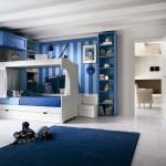 Camerette blu legno massiccio callesella colore