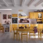 Cucina tempora gialla,panoramica
