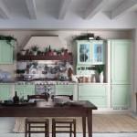 Cucina tempora verde, panoramica