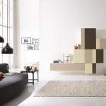 Soggiorni moderni Composizione pixel marrone